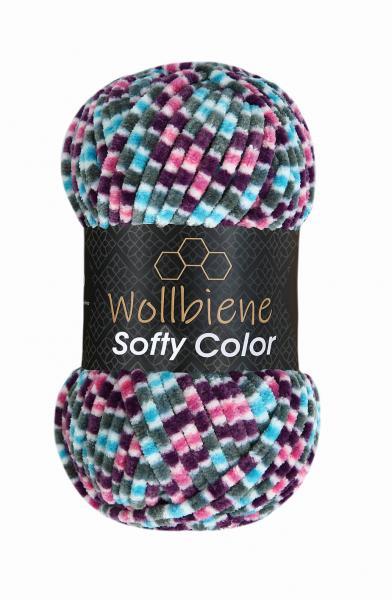 Softy Color lila-grau-rosa-türkis 118