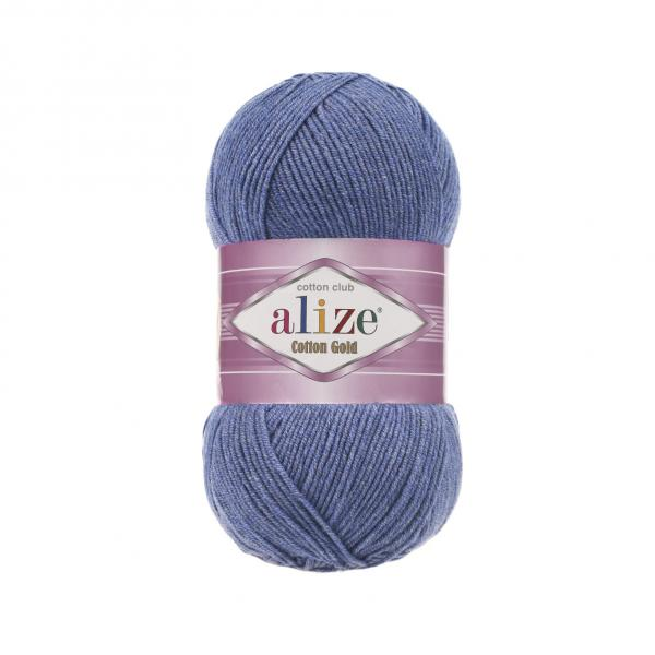 Alize Cotton Gold 374 melange blau