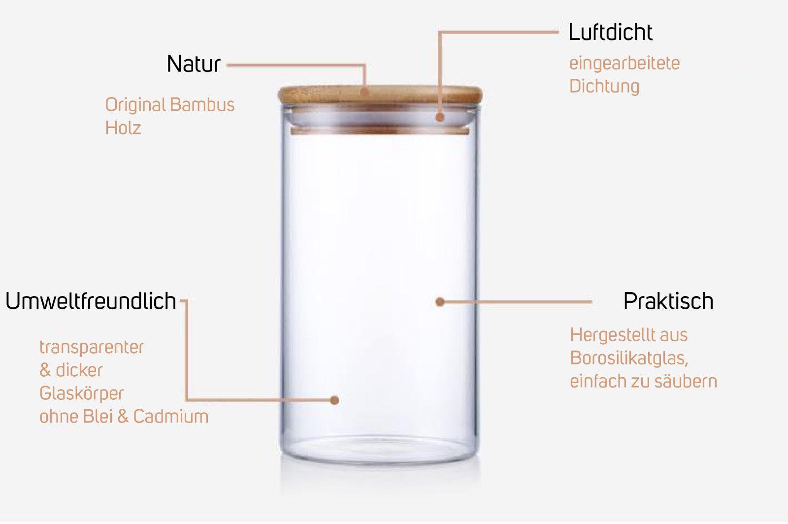 Wollbiene   Vorratsglas aus Glas Vorratsgläser Vorratsdose ...